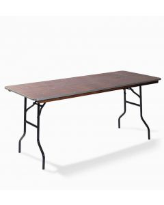 Bankettafel rechthoekig 122 x 76 cm