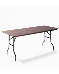 Bankettafel rechthoek 220 x 76 cm