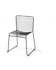Draadstoel zwart