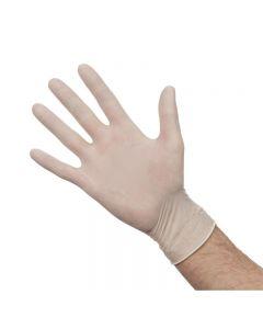 Latex handschoenen wit gepoederd L