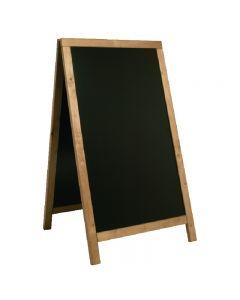 Teak stoepbord van Securit 80 x 135 cm