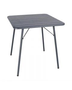Grijze tafel staal Bolero