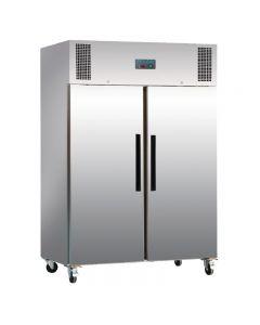 Dubbeldeurs koelkast 1200 liter RVS