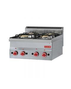 Gaskooktoestel 4 branders tafelmodel Gastro M