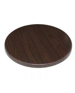 Bolero tafelblad rond 60 cm donkerbruin