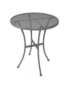 Grijze ronde bistrotafel 60 cm van staal Bolero