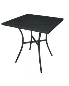 Bistrotafel stalen uitvoering vierkant 70 cm zwart