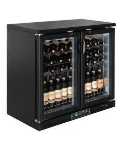 Wijnkoelkast met glazen deur zwart van Polar