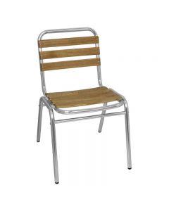 essenhouten aluminium stoel van Bolero per 4 stuks