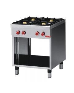 gaskooktafel 650 serie Gastro M 4 branders