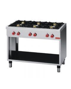 gaskooktafel 6 branders 650 serie Gastro M