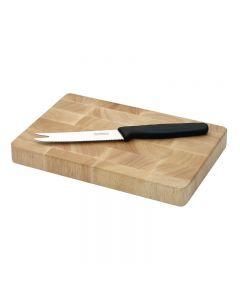 Houten snijplank rechthoekig 15 x 23 cm