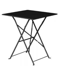inklapbare vierkante tafel zwart
