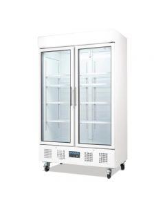 Dubbeldeurs koelkast horeca wit 944 liter