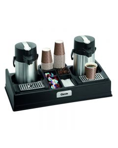 Koffiestation dubbel voor 2 pompthermoskannen