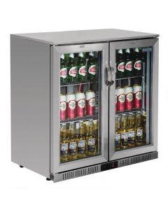 Display barkoelkast 2 deuren, 180 flessen