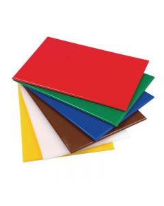 Snijplanken HDPE 600 x 450 x 25 mm in 6 kleuren leverbaar
