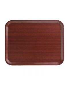 Cambro Capri gelamineerd dienblad mahonie 32,5x26,5cm