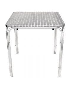 Bistrotafel vierkant aluminium en stapelbaar