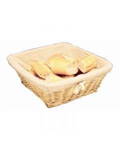 Broodmand vierkant met linnen voering