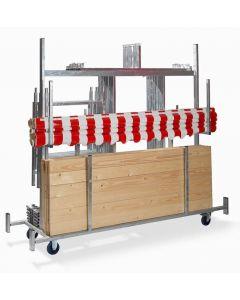 Transportkar voor marktkramen