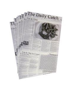 Vetvrij papier krant opdruk